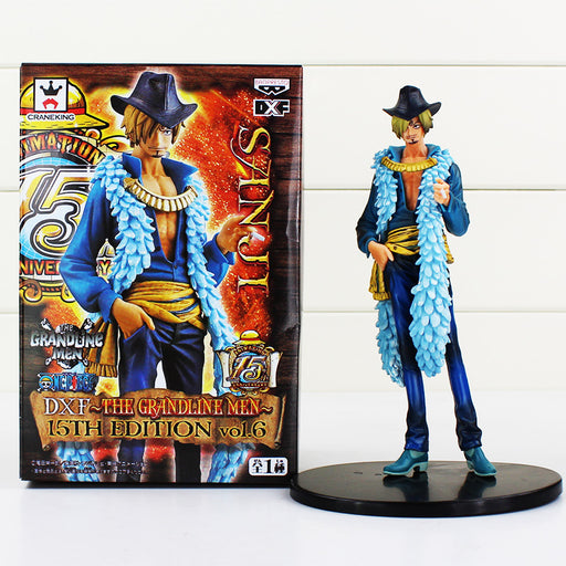 "Anime One Piece Sanji Figure Toy 15th Edition vo1.6 PVC Action Figures Collrctible Model Doll Toys 7"" 18CM"