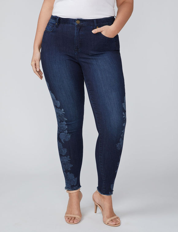 666c530b6ad LANE BRYANT POWER POCKETS SUPER STRETCH SKINNY JEAN - BLEACHED FLORAL PRINT  - Brussels Superstore