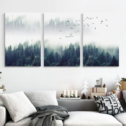 Nordic Forest 3pc Print Set