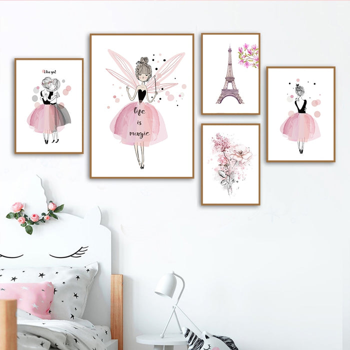 Pink Kawaii Canvas Prints