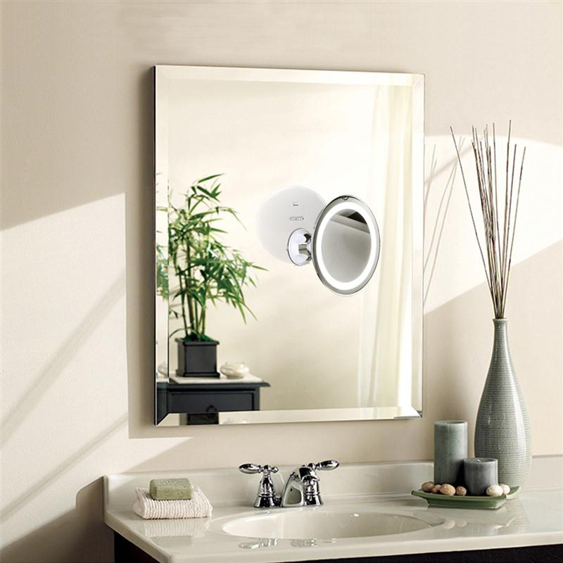 7x Magnifying Rotating LED Makeup Mirror