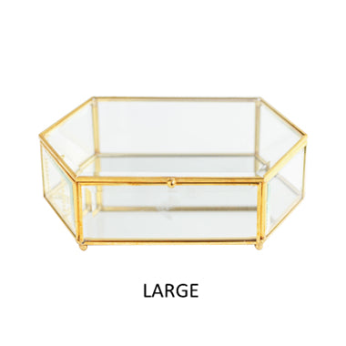 Hexagonal Glass Jewellery Box