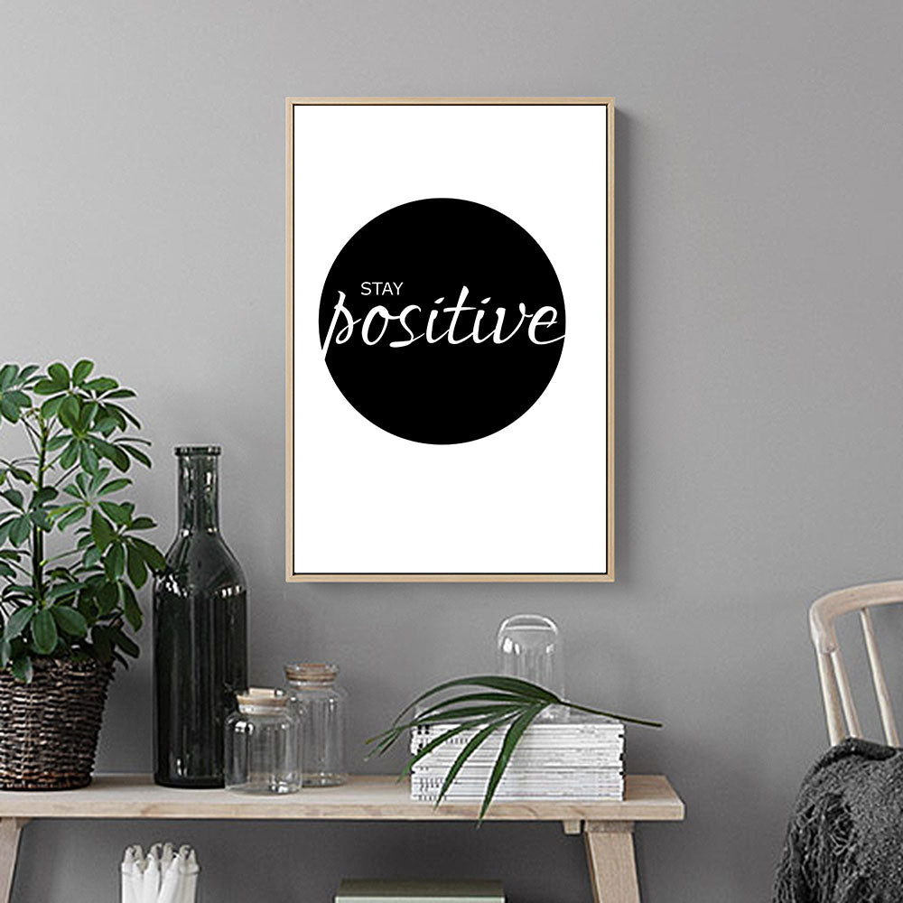 Stay Positive Canvas Prints