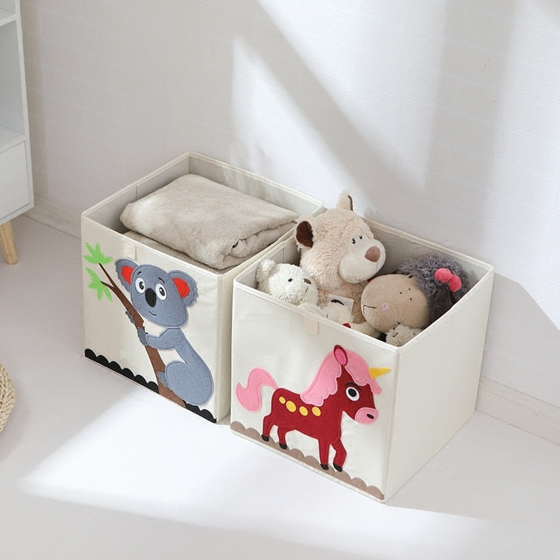 Embroidered Cartoon Storage Boxes