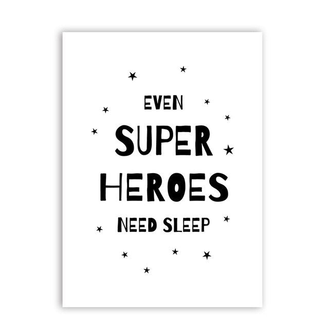 Super Heroes Canvas Print - No Frame