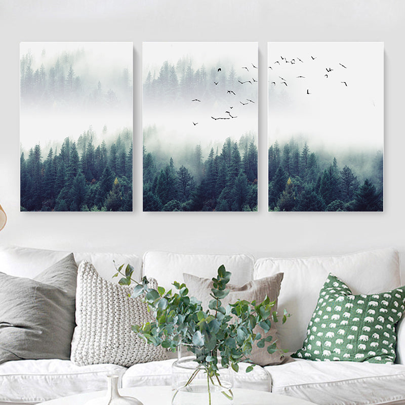 Nordic Forest Canvas Prints - 3pc set