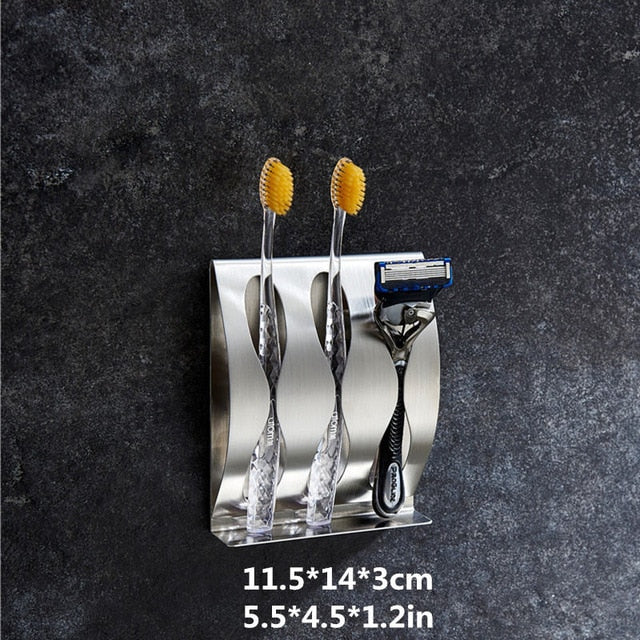 Stainless Steel Toothbrush and Razor Holder