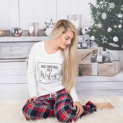 First Christmas As a  Wifey Pyjamas - Lovelei Ltd