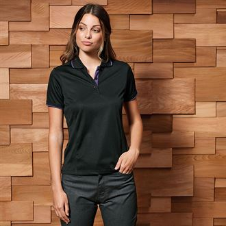 CoolChecker Piped Polo - Lovelei Ltd