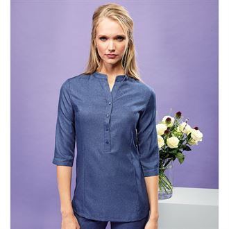 Verbena 'linen look' button-up beauty tunic - Lovelei Ltd
