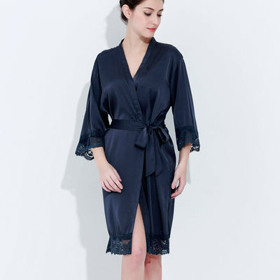 Gracie Blue Grey Robe - Lovelei Ltd