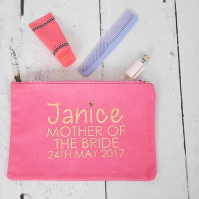 Personalised Wedding Make Up Bag - Available in 3 colours - Lovelei Ltd