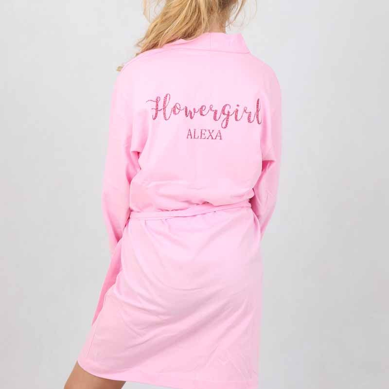 Light Pink Cotton Robe - Lovelei Ltd