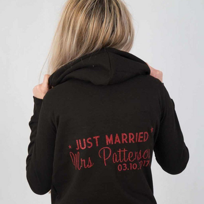 Just Married Hoodie - Lovelei Ltd