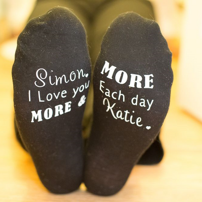 I Love You More and More Each Day Socks - Lovelei Ltd
