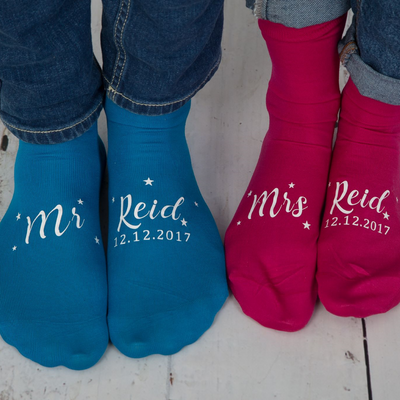 Mr & Mrs Surname Socks - Lovelei Ltd