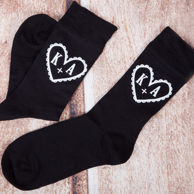 Heart & Initial Socks - Lovelei Ltd