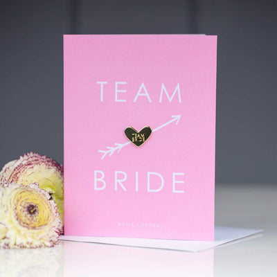 Team Bride Greeting Card with badge - Lovelei Ltd