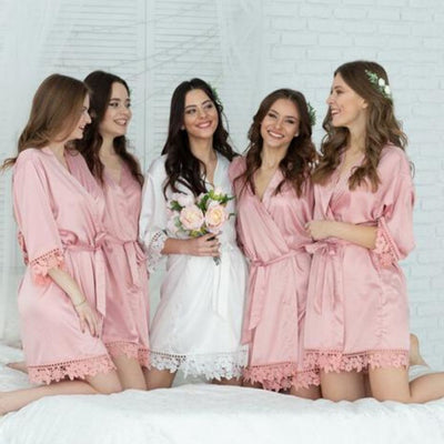 Bonnie Dusky Rose Robe - Lovelei Ltd