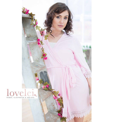Lottie Pink Robe - Lovelei Ltd