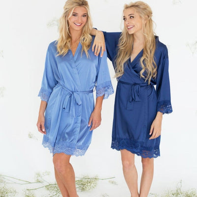 Gracie Navy Blue Robe - Lovelei Ltd