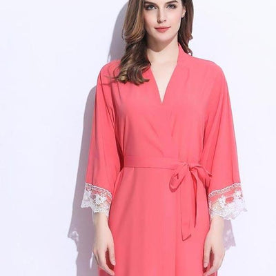 Lacie COTTON Coral Robe - Lovelei Ltd