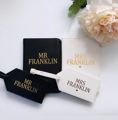 Personalised Mr & Mrs Boutique Travel Set - Lovelei Ltd
