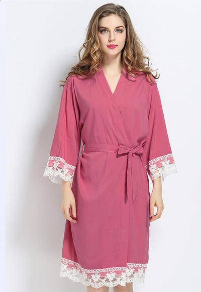 Lacie COTTON Dusky Pink Robe - Lovelei Ltd