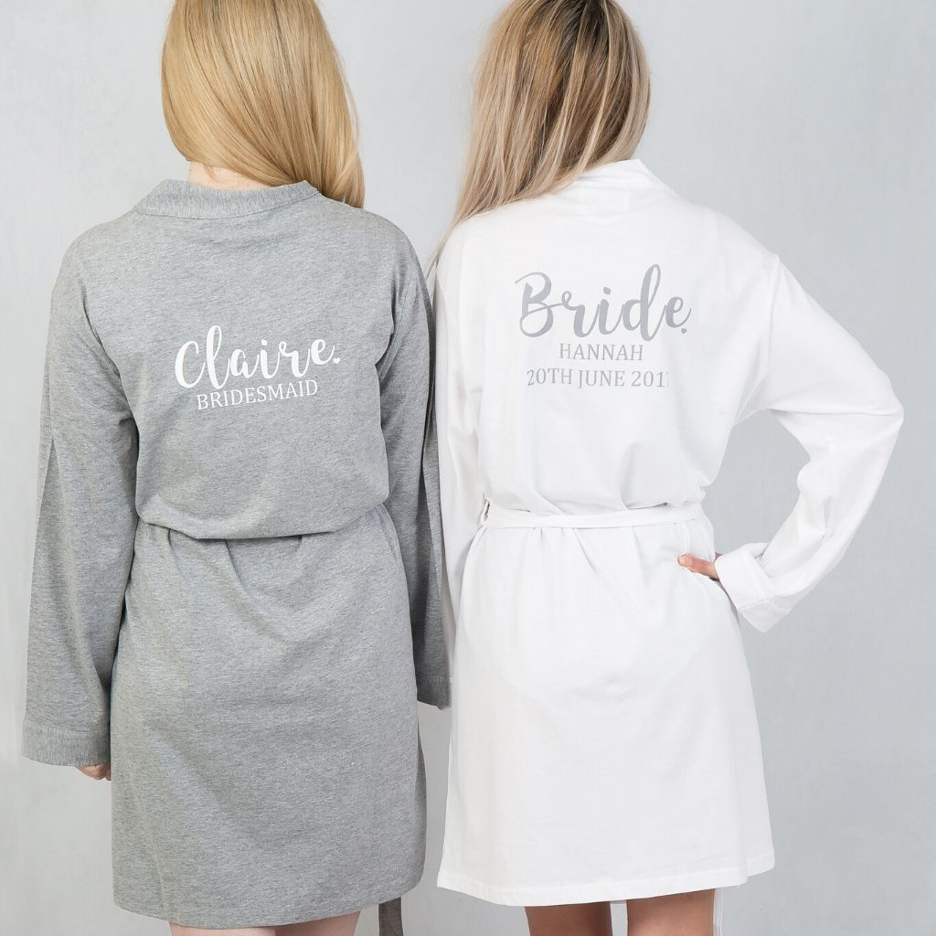 Grey Cotton Robe - Lovelei Ltd