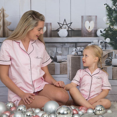 Alexa Piped Pyjamas - Pink - Lovelei Ltd