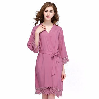 Bonnie COTTON Dusky Pink Robe - Lovelei Ltd