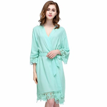 Bonnie COTTON Mint Robe - Lovelei Ltd