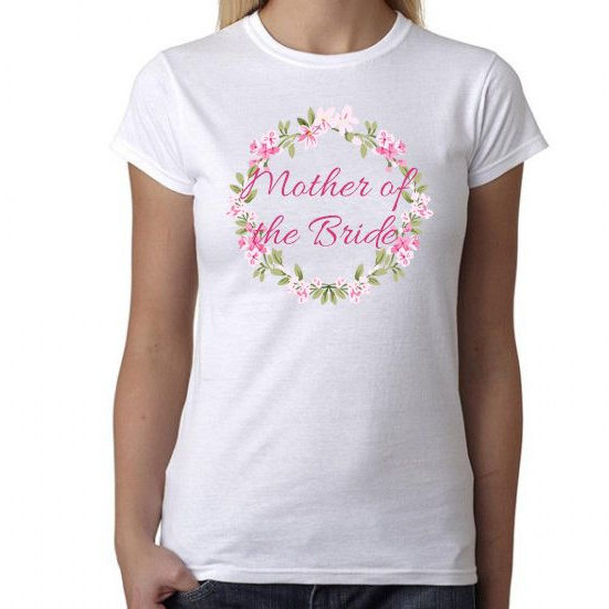 Mother of the Bride Wreath Design  Fitted TShirt - Lovelei Ltd