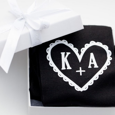 Heart & Initial Socks in Gift Box - Lovelei Ltd