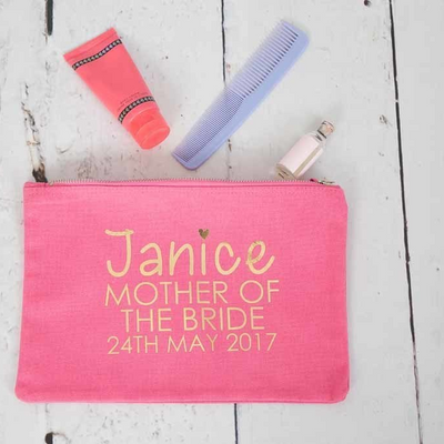 Personalised Wedding Makeup Bag - Lovelei Ltd