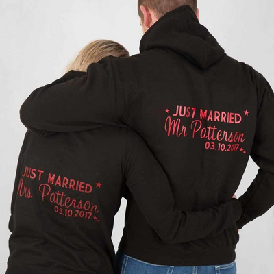 Just Married His & Hers Hoodies - Lovelei Ltd