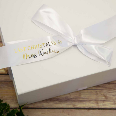 First/Last Christmas Gift Box with Personalised Ribbon - Lovelei Ltd