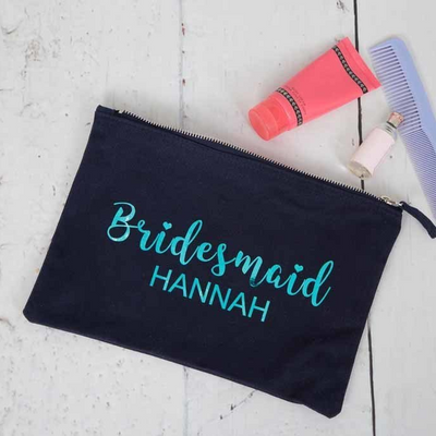 Personalised Make Up Bag - Available in 3 Colours - Lovelei Ltd