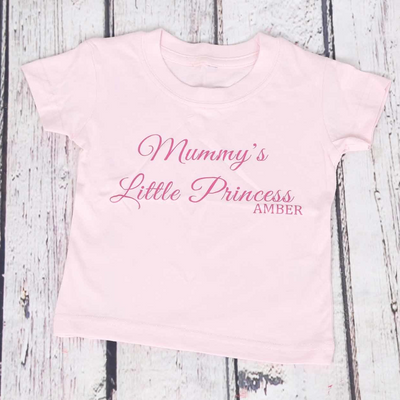Mummy's Little Princess (with Name) T-shirt - Lovelei Ltd