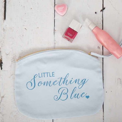 Little Something Blue Make Up Bag - Lovelei Ltd