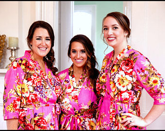 Blossom Hot Pink Robe - Lovelei Ltd