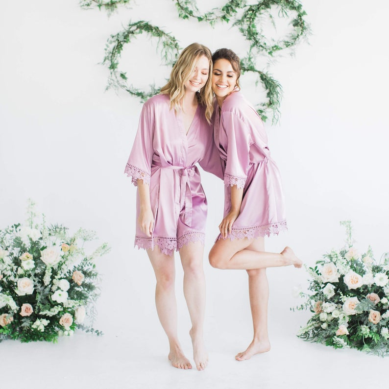 Bonnie Mauve Lilac Robe - Lovelei Ltd