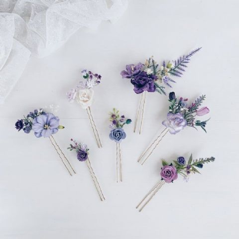 Lilac Floral Hair Pins - Lovelei Ltd