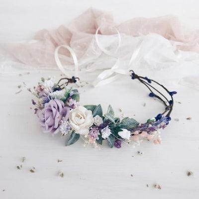 Lilac Flower Crown (Style 1) - Lovelei Ltd