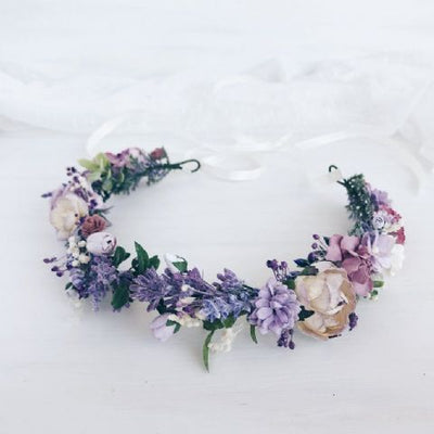 Lilac Flower Crown (Style 2) - Lovelei Ltd