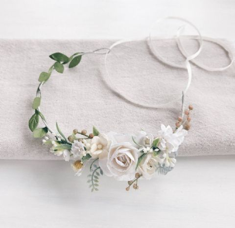 White Child Flower Crown - Lovelei Ltd
