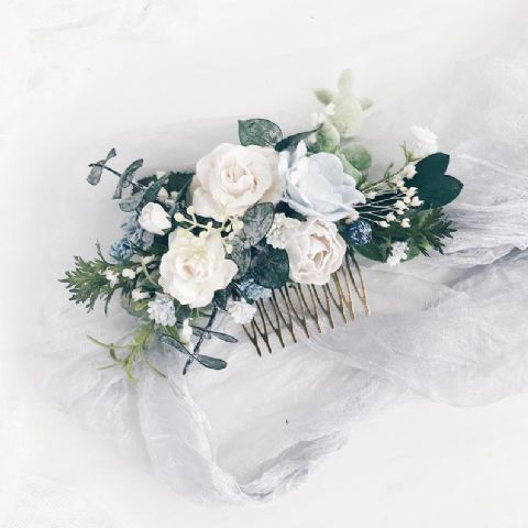 White Floral Hair Comb - Lovelei Ltd
