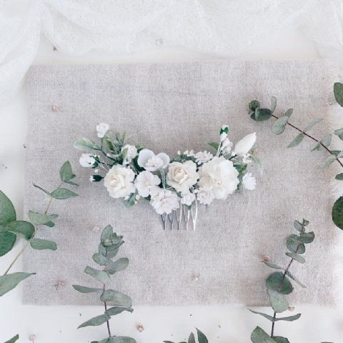 White Rustic Willow Look Flower Crown