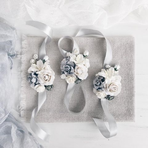 White Floral Wrist Corsage - Lovelei Ltd
