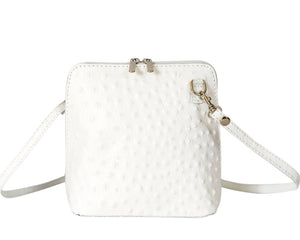 Carolina Crossbody (Ostrich texture)